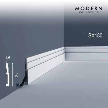 SX180F плинтус гибкий