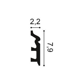 SX122 плинтус Orac Axxent