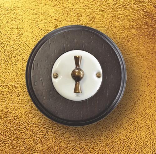 Выключатель поворотный Arreda round венге