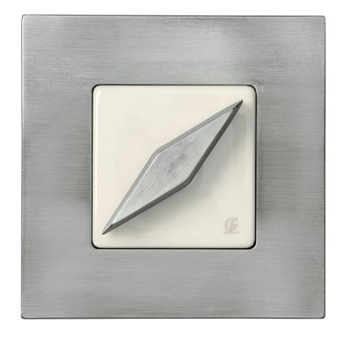 Выключатель поворотный Arreda square хром