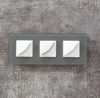 Выключатель поворотный Arreda square серый