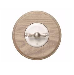 Выключатель поворотный Arreda round светло-серый