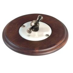 Выключатель поворотный Arreda round орех