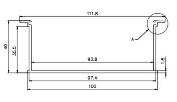 Профиль с рассеивателем LRSV100